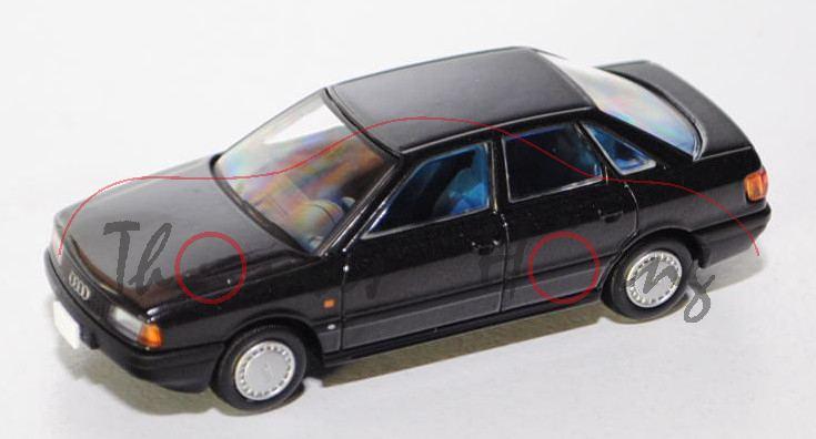 Audi 80 quattro (B3, Typ 89), Modell 1986-1991, schwarz ...