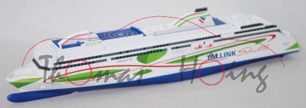 00000 Fährschiff Megastar (Eigner: AS Tallink Group, Indienststellung 2017), weiß, SIKU, 1:1000, L17