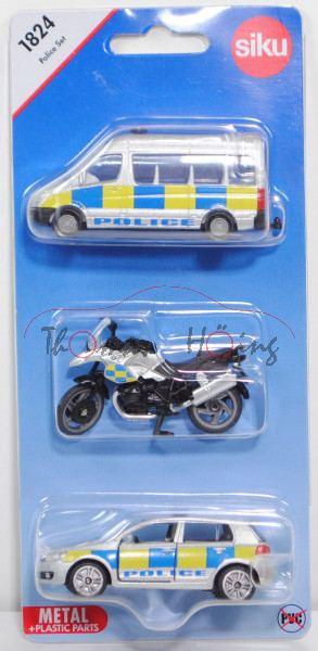 00600 GB Police Set mit: Mercedes-Benz Sprinter II+BMW R1200 GS+VW Golf VI, POLICE, P29e (Limited)