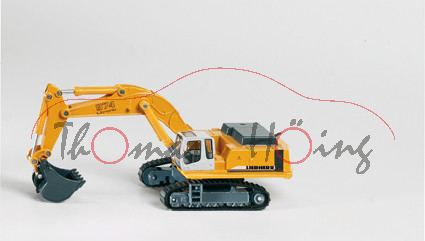 Liebherr Hydraulikbagger, gelb/grau, P29