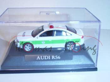 Audi RS6 Polizei, weiß/grün, Mj 2004, Yat Ming, 1:72, mb