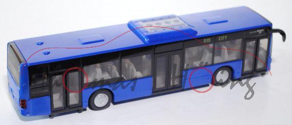 99900 Stadtbus MAN Lion\'s City Solobus mit 3 Türen (Typ A37, Modell NL 243), ultramarinblau, L17mK,