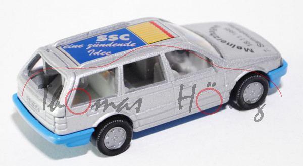 VW Passat Variant (B3, Typ 35i), Modell 1988-1993, silbergraumetallic, Chassis himmelblau, Haube Mei