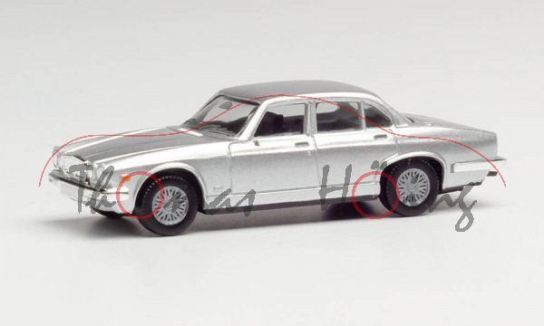 Jaguar XJ6 4.2 (1. Gen., Mark I, Facelift 2 (Serie III), Mod. 79-86), silbermetallic, Herpa, 1:87, m