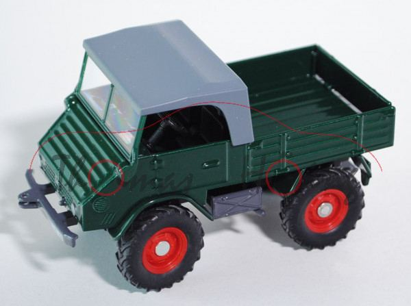 00000.2 Mercedes-Benz Unimog 411 (U25, Mod. 1957-1961), grün, FARMER CLASSIC 1:32, L17mP m-
