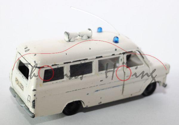 Ford Transit Kombi Polizei-Mannschaftswagen, cremeweiß, innen grau/schwarz, Lenkrad schwarz, POLIZEI