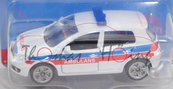06000 PL VW Golf VI 2.0 TDI (Typ 1K, Mod. 08-12) Ambulance Car, weiß, AMBULANS, P29e Limited Edition
