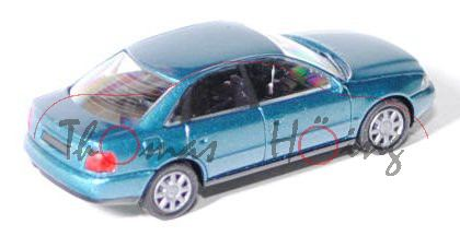 Audi A4 (Typ B5), Modell 1994-2000, azurblaumetallic, Rietze, 1:87, mb