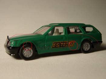 Mercedes-Benz 300 TE (Baureihe S 124), Modell 1985-1986, dunkel-minzgrün, ESTELIT