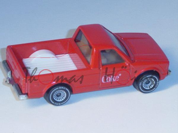 00002 VW Rabbit Pickup (vgl. Caddy I) (Typ 14D, Modell 1979-1983), verkehrsrot, innen reinweiß, Lenk