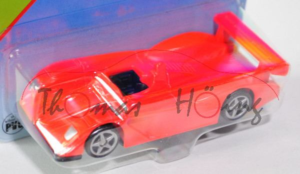 00002 SIKU RACER (vgl. Audi R8 Le Mans Prototyp, Modell 2000-2005), leuchthellrot, innen schwarz, Le