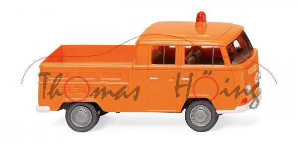 Kommunal - VW DoKa Doppelkabine Pritsche (Typ T2a, Modell 1967-1971), orange, Wiking, 1:87, mb