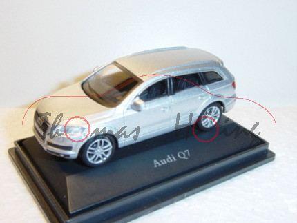 Audi Q7, Mj 05, lichtsilber, Schuco, 1:72, PC-Box