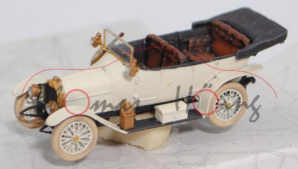 Audi Typ B 10/28 PS (Modell 1911-1917), perlweiß, Artitec®, 1:87, mb (Handarbeitsmodell)