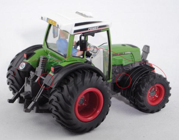 00302 Fendt (Farmer) 208 S Traktor (Modell 2002-2009) mit Breitreifen (Terra-Reifen) hinten und Dopp