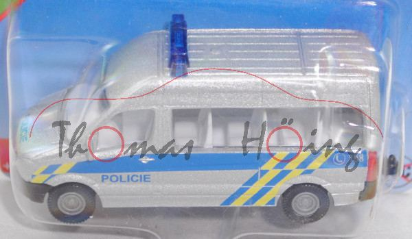 06101 CZ Mercedes-Benz Sprinter II (NCV 3, W 906, Mod. 06-13) Bus Police Van, silber, POLICIE, P29e