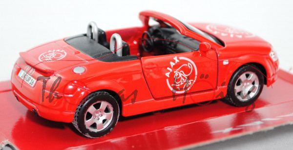 Audi TT Roadster 1.8 T quattro (Typ 8N, Modell 1999-2006), hell-verkehrsrot, innen schwarz, Lenkrad