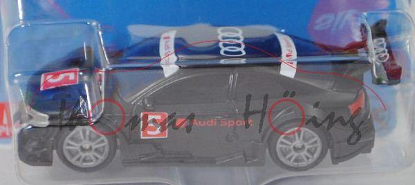00000 Audi RS 5 Racing, schwarz, Audi Sport / 5, B49 geschlossen silber, SIKU, P29e