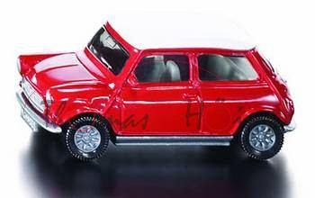 00003 Mini Cooper (Typ MK VI, Modell 1992-1996), feuerrot, Dach reinweiß, innen grauweiß, Lenkrad sc