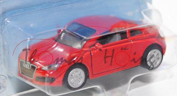 00000 Audi TT 3.2 quattro (Typ 8J), Modell 2006-2010, karminrot, innen silbergrau, Lenkrad silbergra