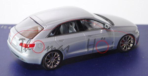 Audi Roadjet Concept, silber, Detroit Motor Show 2006, Looksmart (Handarbeitsmodell), 1:43, Werbesch