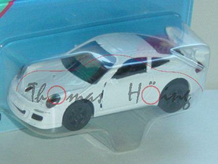 00003 Porsche 911 Carrera S (Typ 997), Modell 2004-2008, reinweiß, innen schwarz, Felgen schwarz, 1: