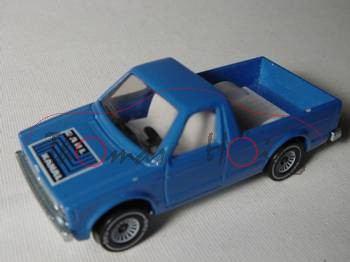 VW Rabbit Pickup (vgl. Caddy I) (Typ 14D), Modell 1979-1983, himmelblau, ohne Verdeck, B4, DAHL KANA