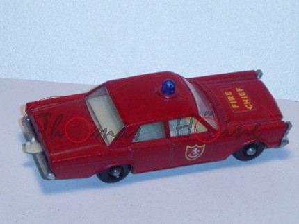 Ford Galaxie Fire Chief Car, karminrot, FIRE / CHIEF, mit Fahrer, Matchbox Series