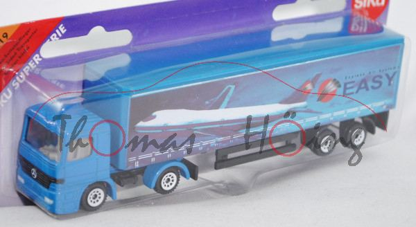 00002 Mercedes-Benz Actros M (1. Generation, MP1, Mod. 96-02) Gardinen-Sattelauflieger, himmelblau,