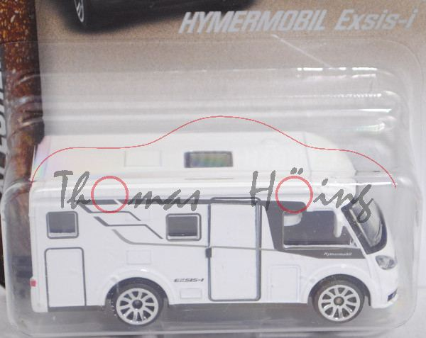 Hymermobil Exsis-i 588 (Modell 2018-) (Nr. 278A) Wohnmobil, weiß/umbragrau, majorette, 1:68, Blister