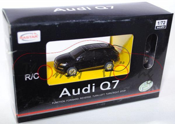 Audi Q7, Mj. 2005, schwarz, mit Fernsteuerung, RASTAR, 1:72, mb