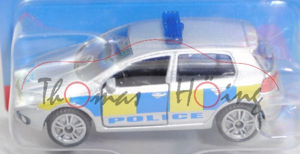 00600 GB VW Golf VI 2.0 TDI (Typ 1K, Modell 2008-2012) Patrol Car, silber, POLICE, P29e (Limited)