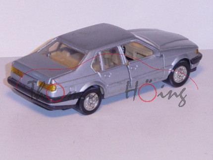 BMW 750i, silber, Vordertüren und Heckklappe zu öffnen, mit Rückziehmotor, ca. 1:32, unbekannt