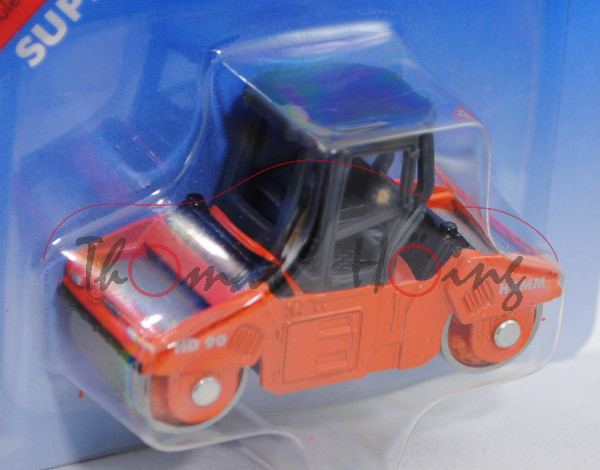 Straßenwalze HAMM HD 90 knickgelenkte Tandemwalze mit 2 Vibrationsbandagen, graphitgrau/verkehrsoran