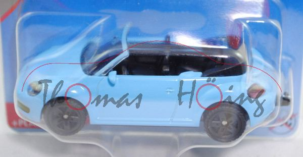 00000 VW The Beetle Cabriolet (Typ 5C, Modell 2012-2016), hellblau. Innen schwarz, B47 schwarz, P29e