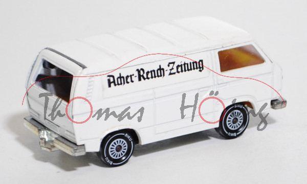 VW Transporter 2,0 Liter (Typ T3), Modell 1979-1982, weiß, IE gelb, R11, Acher-Rench-Zeitung