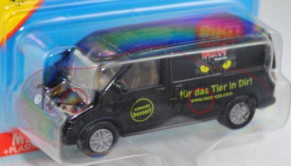 00002 VW T5 Transporter (Modell 2003-2009), schwarz, innen verkehrsgrau, Lenkrad verkehrsgrau, RACE