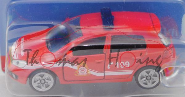 00900 GR VW Golf VI 2.0 TDI (Typ 1K, Mod. 08-12) Firefighter Car, rot, C 199, P29e (Limited Edition)