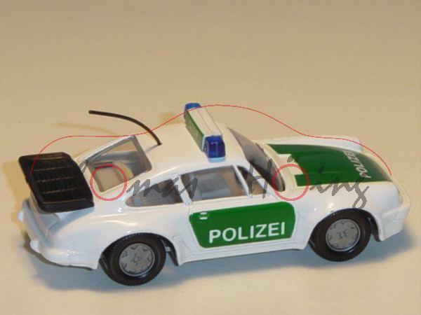 Porsche 911 Turbo 3,3 (G-Modell Typ 930, Modell 1978-1989), Autobahn-Streifenwagen, reinweiß/dunkel-