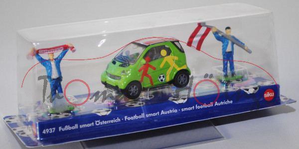 00000 Fussball-smart fortwo coupé passion-Österreich (Mod. 03-07), gelbgrün, mit 2 Figuren, P30
