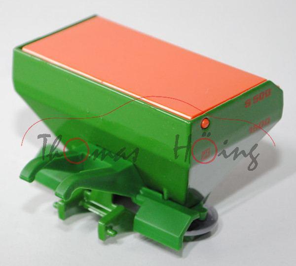 00401 Düngerstreuer, hell-smaragdgrün, Deckel reinorange, Streuteller silbergrau, Druck AMAZONE ZA-M