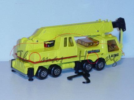 Hercules Mobile Crane, zinkgelb, Aufkleber LAING auf den Türen und links auf dem drehbaren Kran, Mat