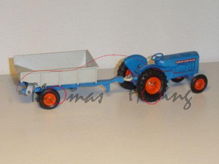 Fordson Tractor with Lock Trailer, dunkel-himmelblau/achatgrau, Matchbox King Size