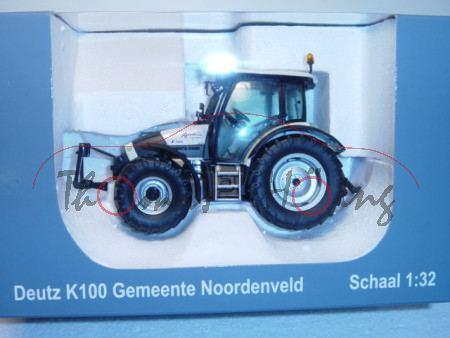 Deutz Agroton K 100 Gemeente Noordenveld, beige, Wärmeschutz-Verglasung getönt, Sitze grau, Universa