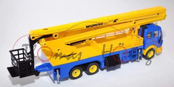Mercedes SK mit Arbeitsbühne, hell-ultramarinblau/signalgelb, WUMAG elevant, LKW12