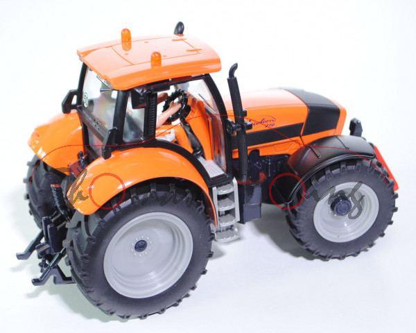 00405 DEUTZ-FAHR Agrotron 210 Traktor (Typ MK4, Modell 2003-2004), hellrotorange/mattschwarz/schwarz