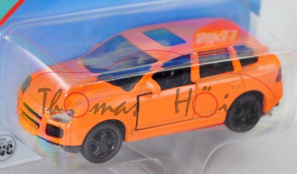 00001 Porsche Cayenne Turbo (Typ 9PA, Modell 2002-2007), hell-tieforange, innen schwarz, Lenkrad sch