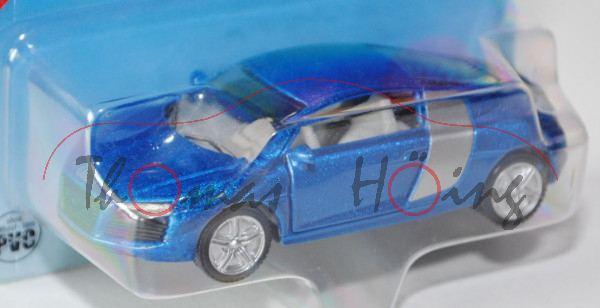 00004 Audi R8 4.2 FSI quattro Coupé (Typ 42), Modell 2007-2010, verkehrsblaumetallic/weißaluminiumme