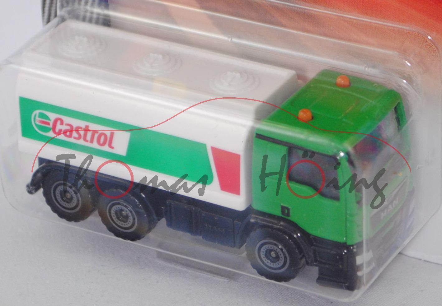 CITY Majorette 212057500 MAN TGS 33.400 Tankwagen grün//weiß Castrol 1:87