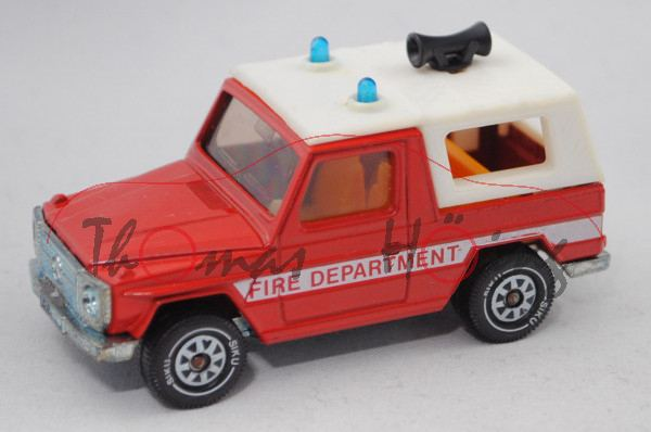 00600 GB Mercedes-Benz 280 GE (W 460, Mod. 80-90) Feuerwehr-Kommandowagen, rot, FIRE DEPARTMENT